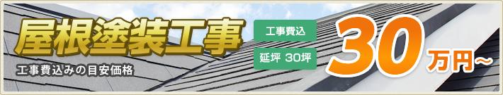 屋根塗装工事 延坪 30坪:30万円~(工事費込)