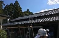 熊本県植木市でのソーラーパネルの解体作業