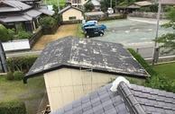 熊本県山鹿市での屋根スレート塗装作業